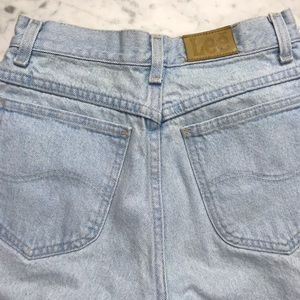 Lee Shorts - Vintage Lee Light Wash Boyfriend Denim Jean Shorts